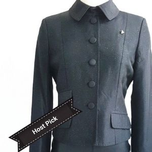 Moschino Black Peter Pan Collar Blazer